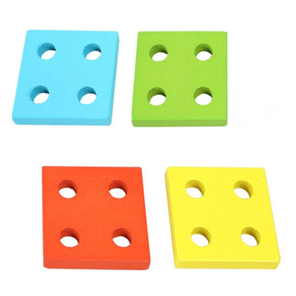 Educational Wooden Shape-Sorting Board - Montessori Baby Educational Toys - High Quality Building Blocks - Baby Gifts Delivered
