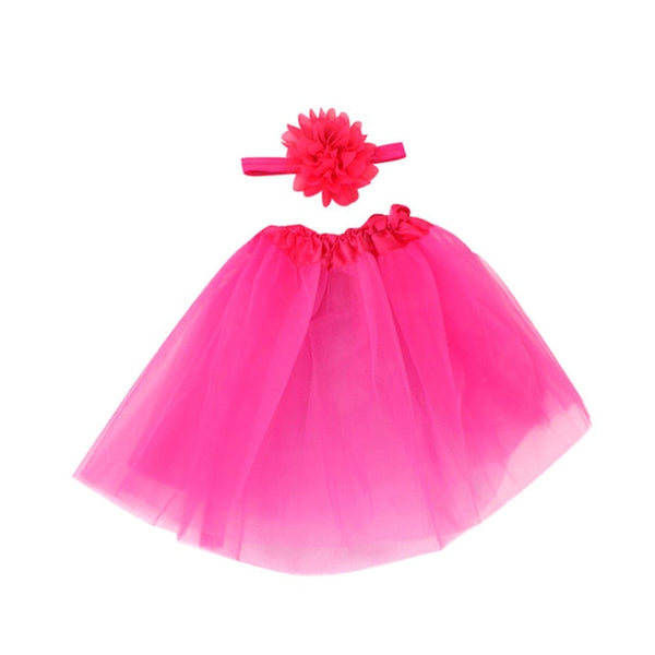 Tutu outfit for newborns - Photography Props - Skirt And Headwear - Baby Girls Clothes Set