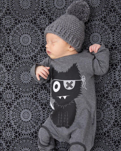 Monster-themed Baby Rompers - newborn baby clothes - long sleeve cartoon baby onesie