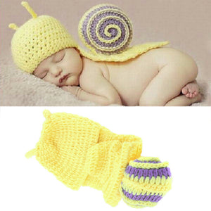 Infant Baby Crochet Snail Hat - Newborn Photography Prop Boy Beanie - newborn costume