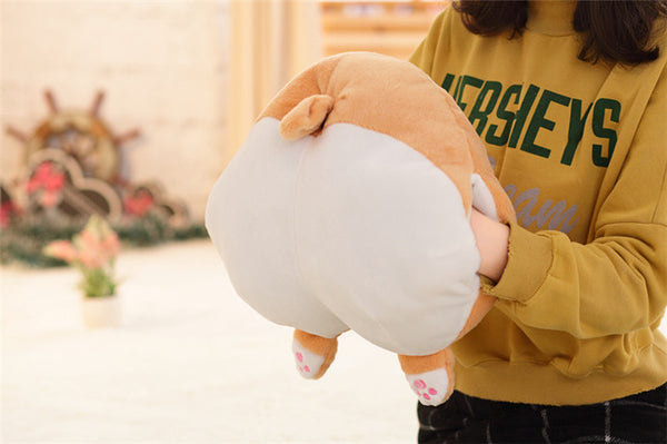 Novelty Corgi Butt Plush Corgi Pillow or Hand Warmer - Cartoon Animal Sofa Cushion