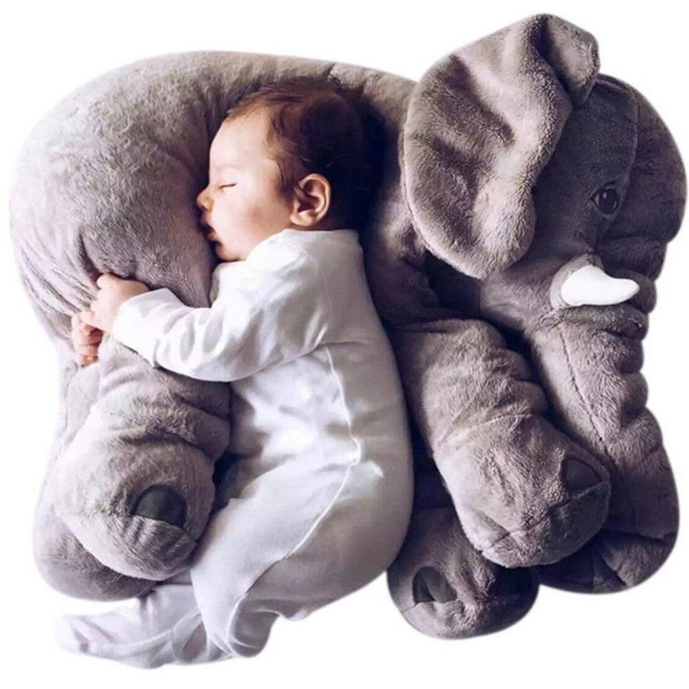 Colorful Giant Elephant Stuffed Animal + Nursing Pillow - Baby Gifts Delivered