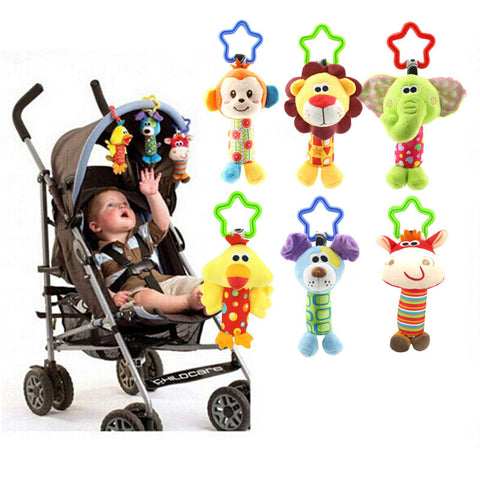 Cute Baby Toys Soft Musical Newborn Kids Toys Animal Baby Mobile Stroller Toys Plush Playing Doll - Baby Gifts Delivered