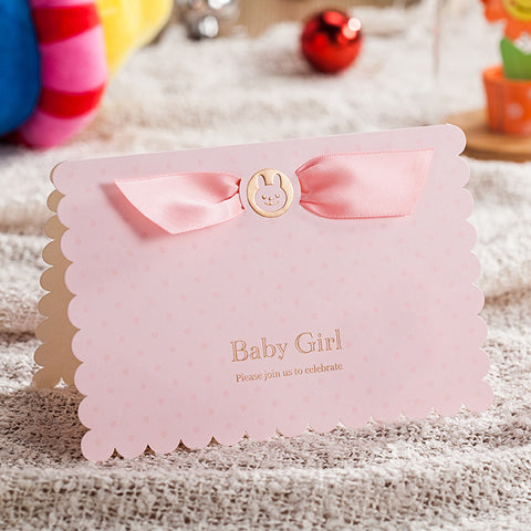 "(10-Pack) Baby Shower Invitation Cards - ""Baby Boy"" & ""Baby Girl"""