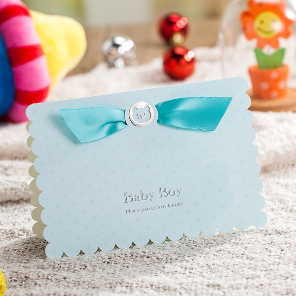 "(10-Pack) Baby Shower Invitation Cards - ""Baby Boy"" & ""Baby Girl"" - Baby Gifts Delivered"
