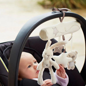 Cute Rabbit baby music hanging bed safety plush toy Stroller Mobile - Baby Gifts Delivered