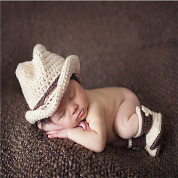 Crochet Set Newborn BABY Photo Prop Costume - Handmade Knitted characters for infant - Baby Gifts Delivered