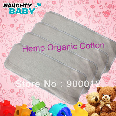 Baby Cloth Diaper Inserts - Hemp/Organic Cotton Blend - 25pcs, 4 Layers, Washable - Baby Gifts Delivered
