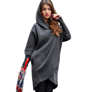 Women's Casual Coat - Poncho-Style Oversized Pullover