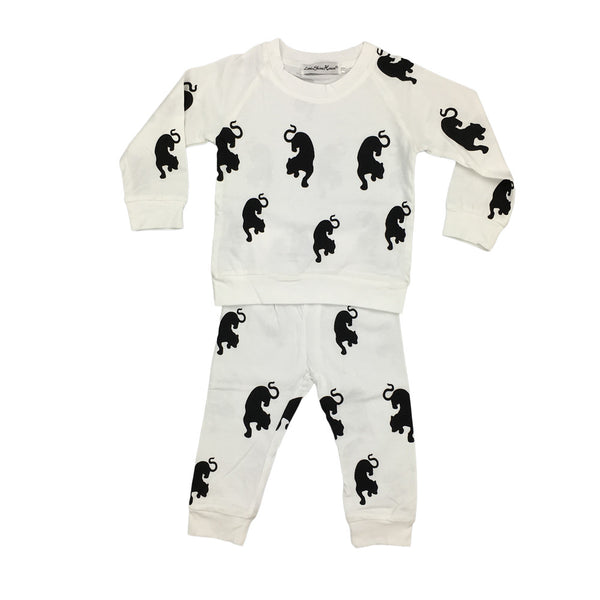 2017 New Fashion baby clothes set - Novelty big cat print - cartoon Long sleeve T-Shirt+Pants 2pcs - Baby Gifts Delivered