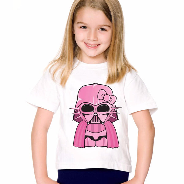 18M-10T Print Modal Pink Darth Vader T shirt For Boys/girls Star War T-Shirts for Children Baby Girls Clothing TA177 - Baby Gifts Delivered