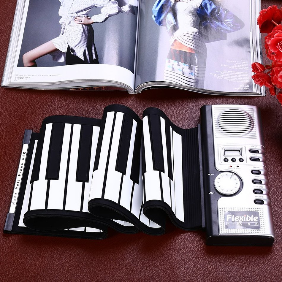 2016 Hot Sale Portable Flexible 61 Keys Silicone MIDI Digital Soft Keyboard Piano Flexible Electronic Roll Up Piano - Baby Gifts Delivered