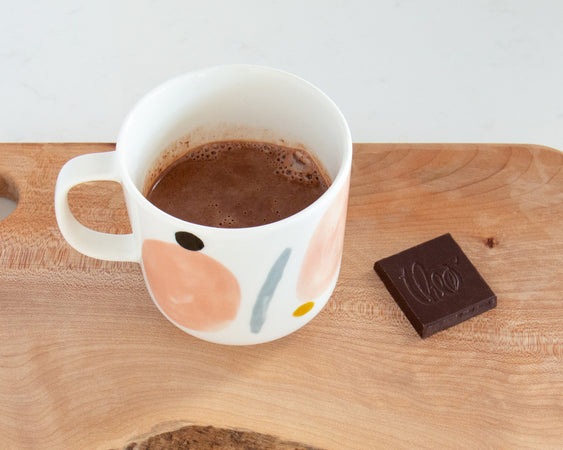 Float Mug with hot chocolate