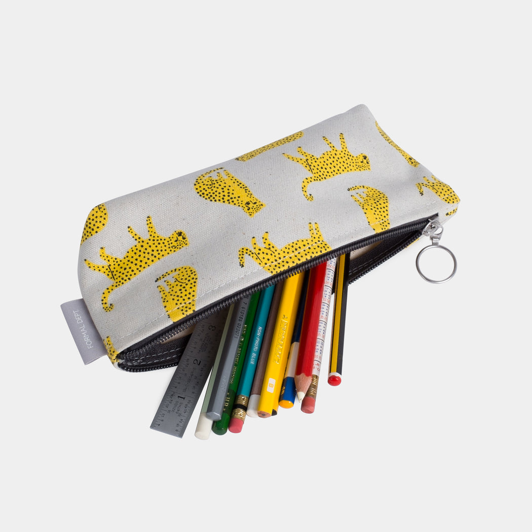 Small Zip Pencil Case - Cheetah