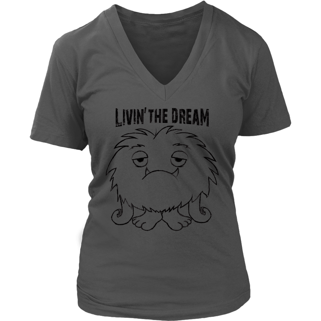 Livin' the Dream Womens V Neck T Shirt