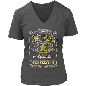Vintage Womens V Neck T Shirt