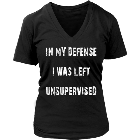Unsupervised Womens V Neck T Shirt
