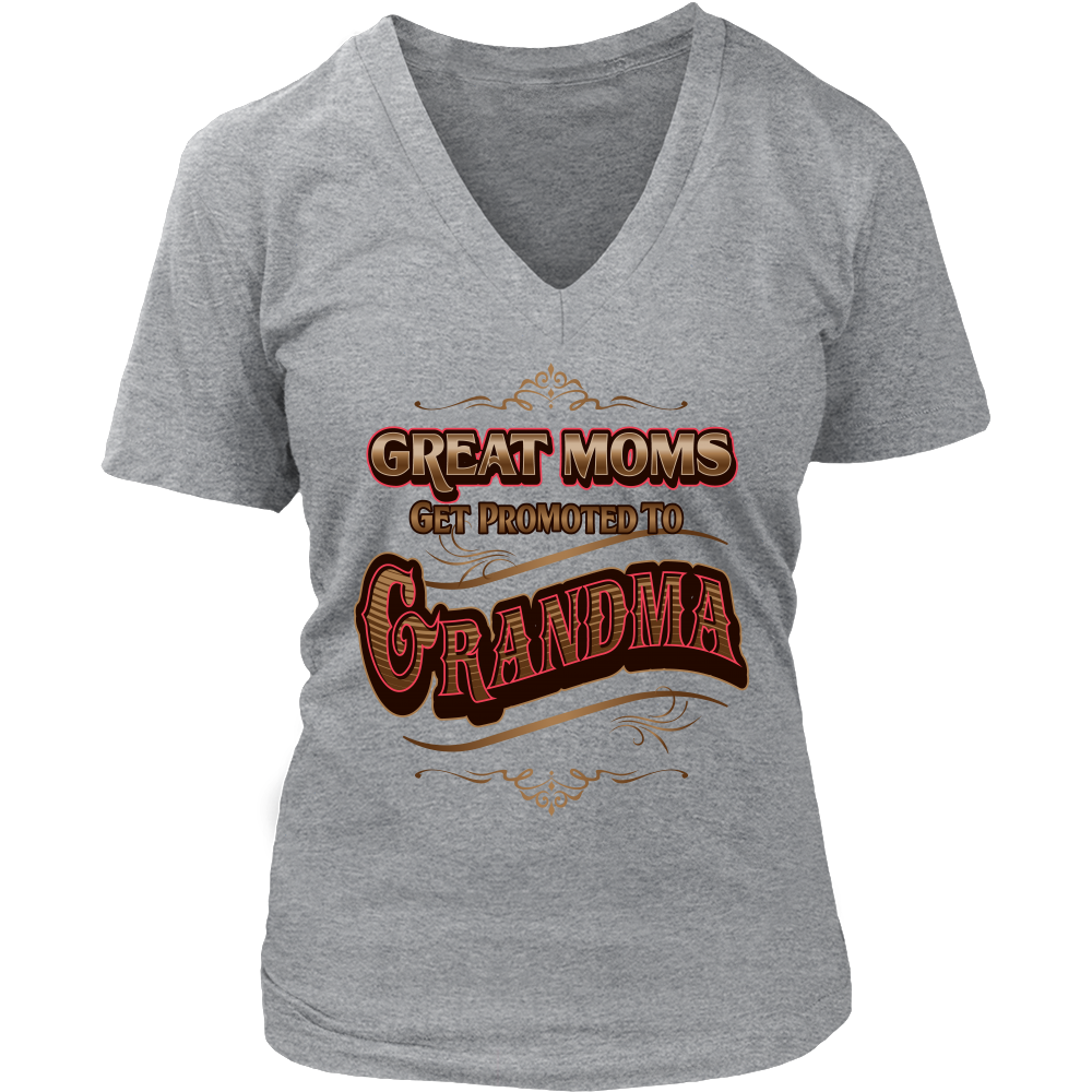 Grandma Womens V Neck T Shirt