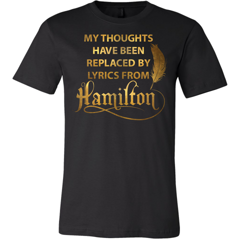 Hamilton Lyrics Mens T Shirt