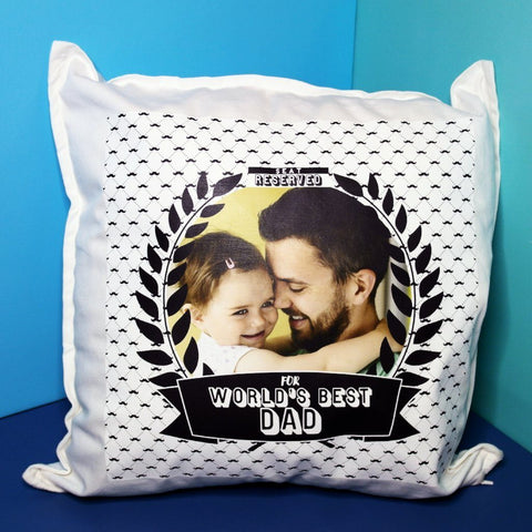 Seat Reserved for World's Best Dad Cushion (Large)