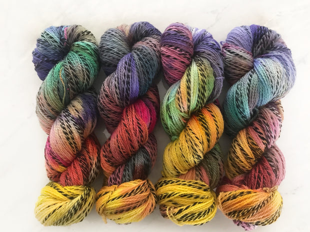 Kaleidoscope - Zebra Fingering Weight Yarn