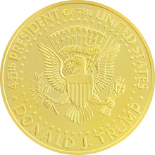 2018 Gold Trump Coin Back