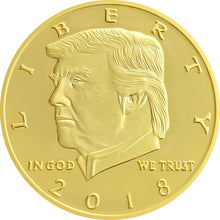 2018 Golden Trump Presidential Coin Set of 15 + Bonus Coin + LIMITED 2017 Coin
