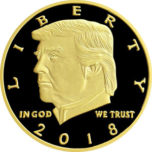 2018 Gold Black Trump Coin