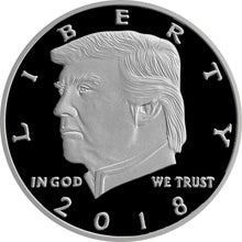 2018 Silver Black Trump Coin