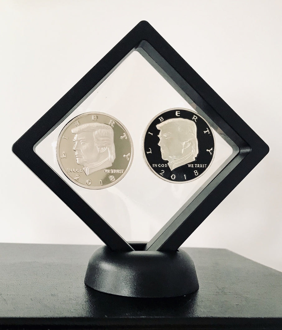 2018 Silver Liberty and Silver/Black Presidential Coin Set + Coin Display Case
