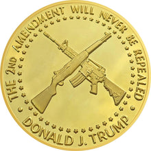 2018 Golden Trump 2nd Amendment Coin