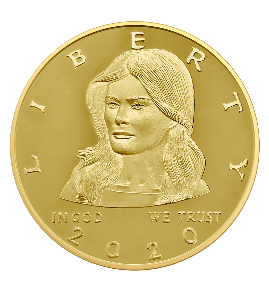 2020 Golden Melania Trump First Lady Coin