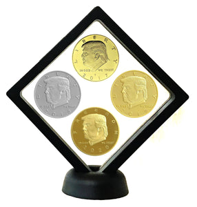 2017-2020 Four-Coin Presidential Coin Set + Coin Display Case