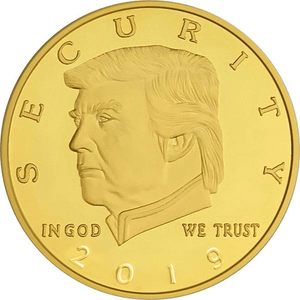 2019 Golden Trump Border Wall Coin