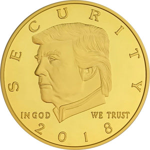 2018 Golden Trump Border Wall Coin