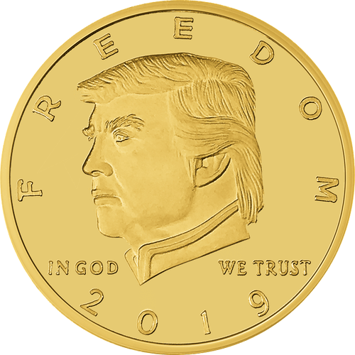 2019 Golden Trump 2nd Amendment Coin