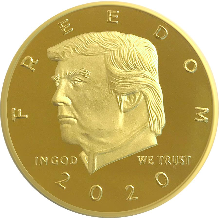 2020 Golden Trump 2nd Amendment Freedom Coin