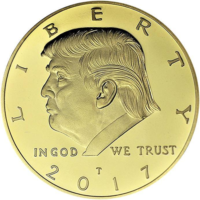Golden Trump Presidential Coin