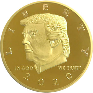2020 Golden Trump Presidential Liberty Coin