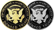 LIMITED EDITION - Golden & Silver Two-Tone Trump Presidential Coin Set