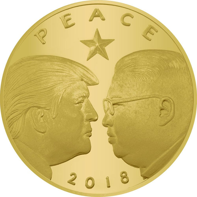 2018 Golden Trump Peace Coin