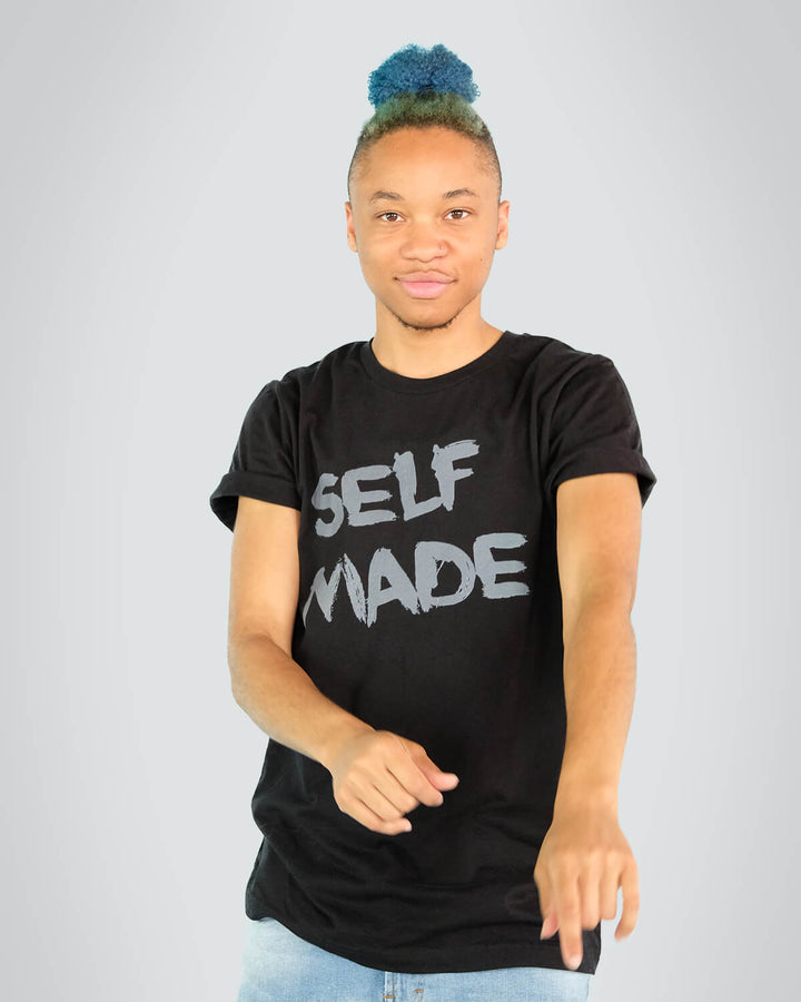 Self Made Black T-Shirt