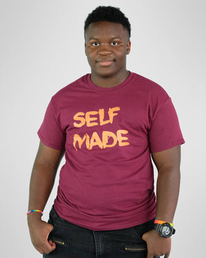 Self Made Tee Maroon