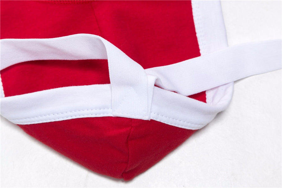 Red Jockmail Packing Underwear Jockstrap with Pouch for FTMs