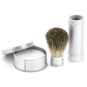 Travel Brush and Shaving Soap Set
