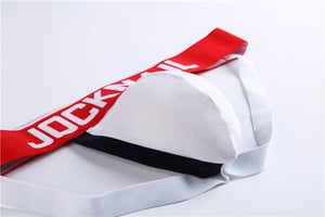 White Jockmail Packing Underwear Jockstrap with Pouch for FTMs