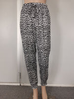 Leopard print Trousers - White