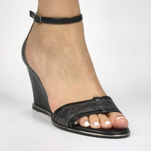 Blair Wedge - Butterfly Feet - Black