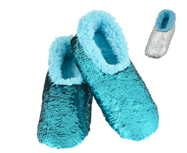 Snoozies - Ladies Reversible Bling Blue