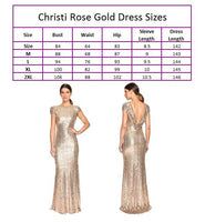 Christi Rose Gold Sequence Dress
